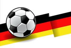 Fußball mit Markierungsfahne - Deutschland stock abbildung