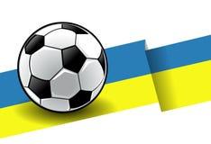 Fußball mit Markierungsfahne - Ukraine Lizenzfreies Stockbild