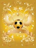Fußball-Muster Stockfoto