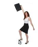 Fußball-Mutter oder Geschäftsfrau Stockbilder