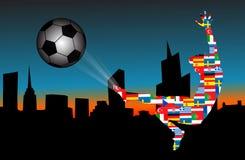 Fußball nachts Stockfotos