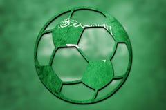 Fußball-nationale Saudi-Arabien Flagge Saudi-Arabien Fußballba stockfoto