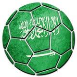 Fußball-nationale Saudi-Arabien Flagge Saudi-Arabien Fußballba lizenzfreie stockfotografie