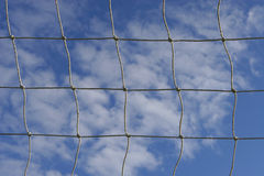 Fußball-Netz lizenzfreies stockbild