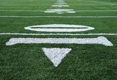 Fußball nummeriert 10 Lizenzfreies Stockfoto