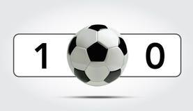 Fußball-oder des Fußball-3d Ball mit Ergebnis Lizenzfreie Stockbilder