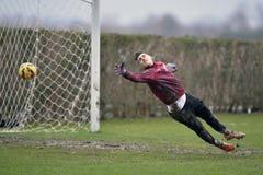 Fußball oder footbal Torhüter Lizenzfreie Stockfotografie