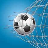 Fußball oder Fußball, die durch das Netz brechen stock abbildung