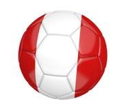Fußball oder Fußball, mit der Landesflagge von Peru Lizenzfreie Stockfotos