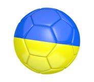 Fußball oder Fußball, mit der Landesflagge von Ukraine Lizenzfreie Stockfotografie