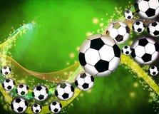 Fußball- oder Fußballhintergrund Stockfotos