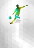 Fußball- oder Fußballhintergrund Lizenzfreie Stockfotografie