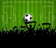 Fußball- oder Fußballmengenhintergrund Stockfotografie