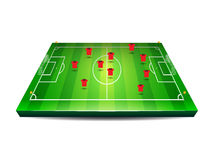 Fußball oder Fußballplatz mit Spielern Stockbild