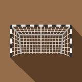 Fußball- oder Fußballtorikone, flache Art Stockbilder