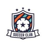 Fußball-oder Fußball-Verein-Logo oder Ausweis Stockbild