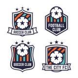 Fußball-oder Fußball-Verein-Logo oder Ausweis-Satz Stockbilder