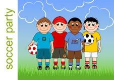 Fußball-Partei-Einladung Lizenzfreie Stockbilder