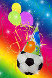 Fußball-Party Stockbild