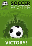 Fußball-Plakat Lizenzfreies Stockbild