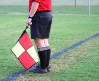 Fußball-Referent Stockbild