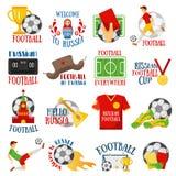 Fußball in Russland lizenzfreie abbildung