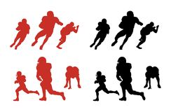 Fußball-Schattenbilder lizenzfreie abbildung