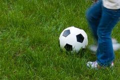 Fußball-Schlag Stockfotos
