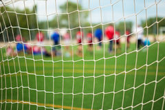 Fußball-selektiver Nettofokus stockbild