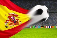 Fußball Spanien Stockbild