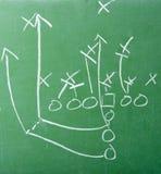 Fußball-Spiel-Diagramm auf Tafel Lizenzfreie Stockbilder