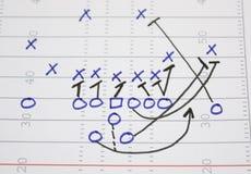 Fußball-Spiel-Schleife-Diagramm Stockfotos
