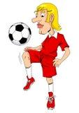 Fußball-Spieler Lizenzfreie Stockfotos