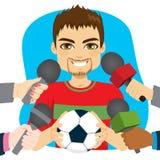Fußball-Spieler-Interview stock abbildung