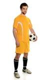 Fußball-Spieler-Stellung Lizenzfreies Stockfoto