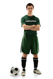 Fußball-Spieler-Stellung Stockbilder