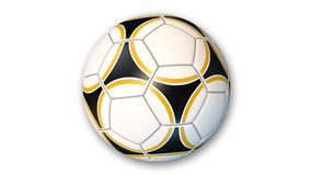 Fußball, Sportausrüstung lokalisiert auf Weiß Stockbild