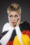 Fußball-Sportfreund-Anhänger Deutschland Stockbild