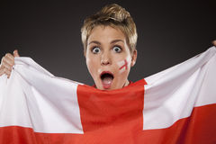 Fußball-Sportfreund-Anhänger England Lizenzfreie Stockbilder