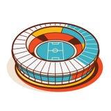 Fußball-Stadion - Illustration 2 von 2 Lizenzfreie Stockbilder