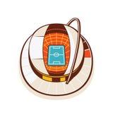 Fußball-Stadion - Illustration 1 von 2 Stockfoto