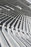 Fußball-Stadionbänke Stockfoto