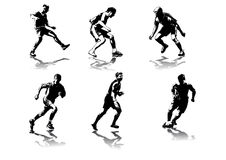 Fußball stellt #5 dar Stockfotos
