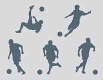 Fußball stellt Vektor dar Stockfotografie