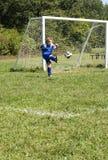 Fußball-Stoß Stockfotografie