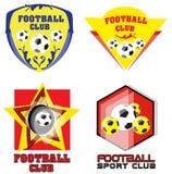 Fußball-Team oder Fußball-Verein Logo Set Stockfotografie