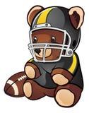 Fußball-Teddybär Stockfotografie