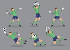 Fußball-Torhüter-Vektor-Ikonen-Illustration Stockbilder