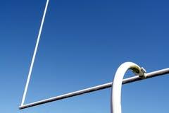 Fußball-Torpfosten Stockfoto