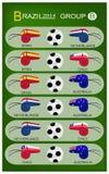 Fußball-Turnier von Gruppe B Brasiliens 2014 vektor abbildung